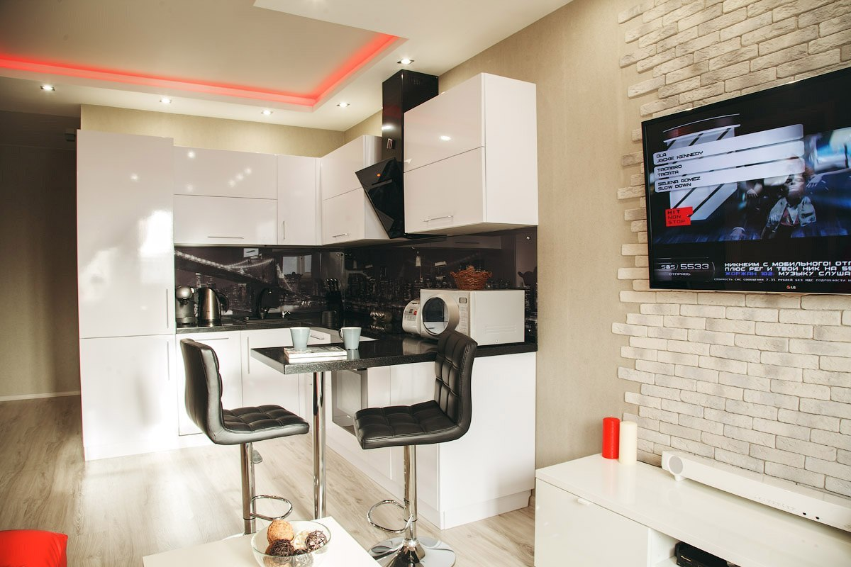 Дизайн квартиры студии 26 кв
