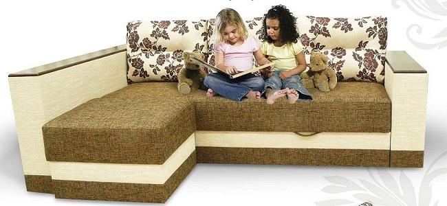 """Кутовий диван з пуфом """"Доміно"""""""