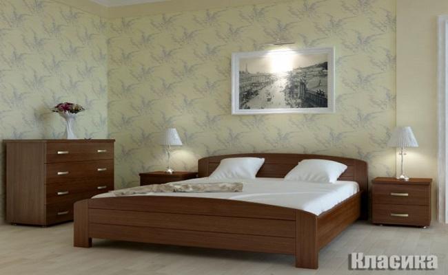 """Дерев'яне ліжко """"Класика"""""""