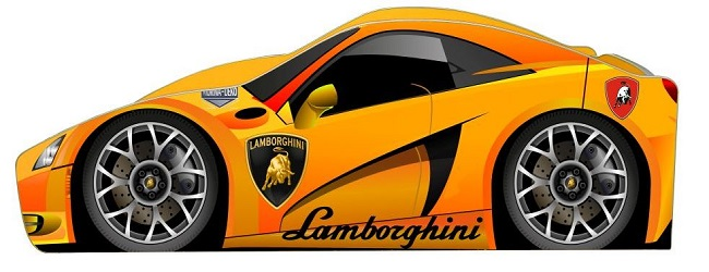 """Дитяче ліжко """"Lamborghini"""" бренд"""