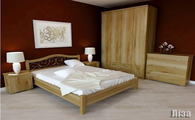 """Дерев'яне ліжко """"Ліза"""""""