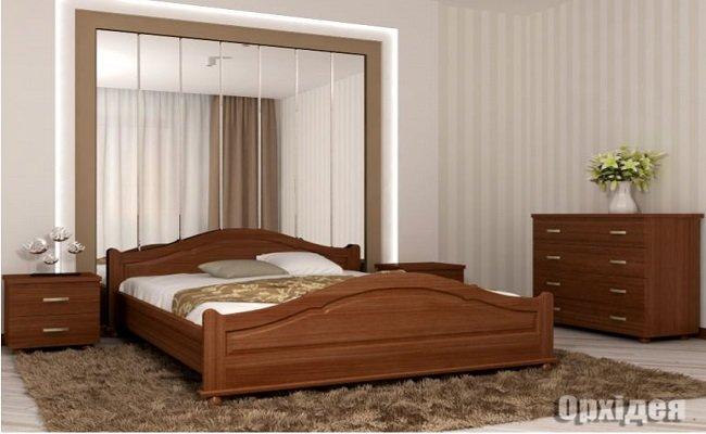 """Дерев'яне ліжко """"Орхідея"""""""