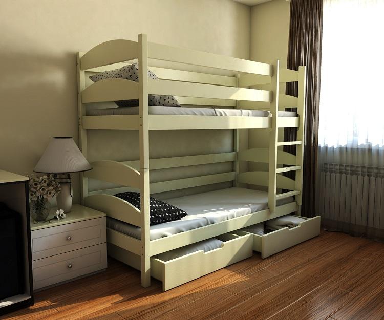 """Дерев'яне ліжко """"Лаккі"""""""